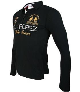 Herren V-Neck Shirt mit Polokragen AT-260