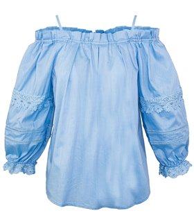 Damen Bluse Shirt Top mit Rüschen D-322