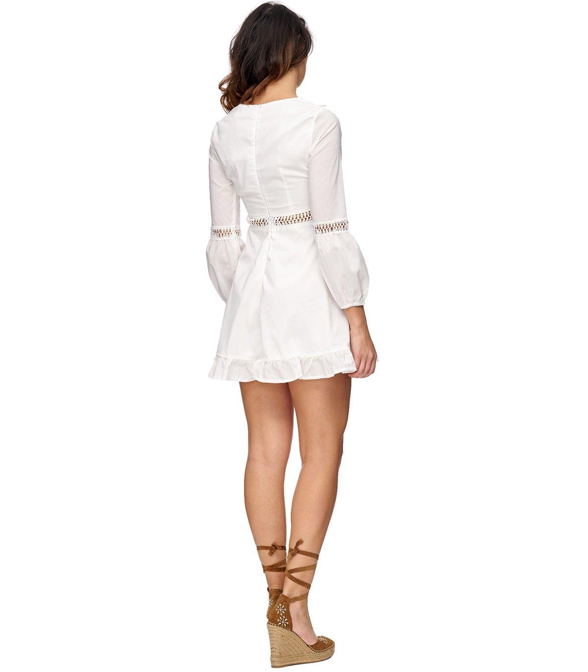 Elegantes Damen Sommerkleid Midikleid Rock V-Ausschnitt ...