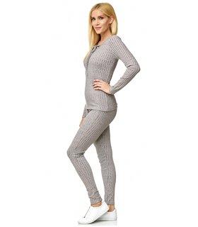 Designer Damen Strickanzug Zweiteiler Freizeitanzug Damenanzug Leggings D-421