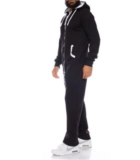 Herren Overall Jumpsuit Onesie Jogger Trainingsanzug H-120