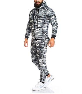 Lorenzo Loren Herren Jogginganzug Camouflage LL-202C