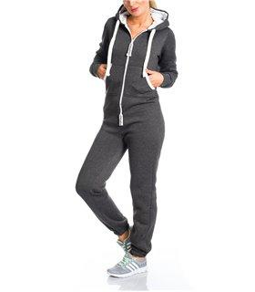 Damen jumpsuit jogger jogging anzug trainingsanzug overall onesie