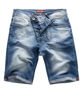 Rock Creek Herren Jeansshorts Slim Fit Blau RC-2208