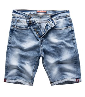 Rock Creek Herren Jeansshorts Slim Fit Blau RC-2217