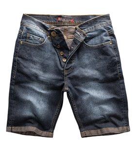 Rock Creek Herren Jeansshorts Slim Fit Dunkelblau RC-2216