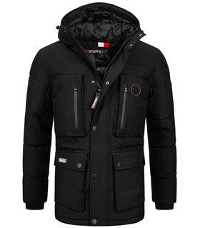 Geographical Norway Herren Winter Jacke mit Kapuze H-241