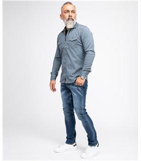 Indumentum Herren Jeans Slim Fit Blau IS-300