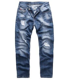 Indumentum Herren Jeans Slim Fit Blau IS-304