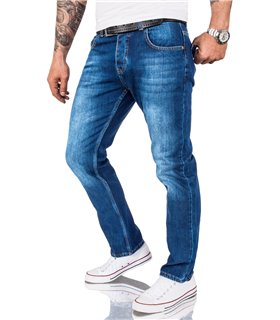 Rock Creek Herren Jeans Comfort Fit Hellblau RC-3120A