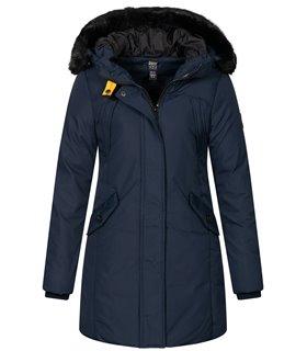 Geographical Norway Damen Winter Mantel mit Kunstfellkragen D-450