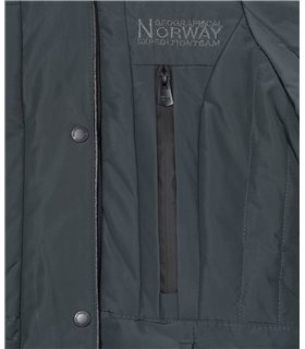 Geographical Norway Damen Winter Mantel mit Kunstfellkragen D-449