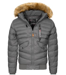 Geographical Norway Herren Winter Jacke mit Kunstfellkragen H-247