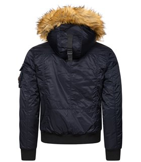 Geographical Norway Herren Winter Jacke mit Kunstfellkragen H-246