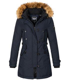 Geographical Norway Damen Winter Jacke mit Kunstfellkragen D-446