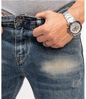 Indumentum Herren Jeans Regular Fit Blau IR-500