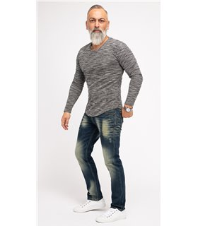 Indumentum Herren Jeans Regular Fit Blau IR-502