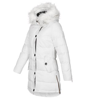 Damen Winter Jacke mit Kunstfellkragen D-452