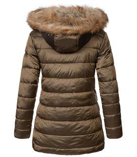 Geographical Norway Damen Winter Jacke mit Kunstfellkragen D-458