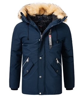 Geographical Norway Herren Winter Jacke mit Kunstfellkragen H-260