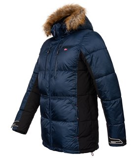 Geographical Norway Herren Winter Jacke mit Kunstfellkragen H-261