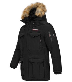 Geographical Norway Herren Winter Jacke mit Kunstfellkragen H-263