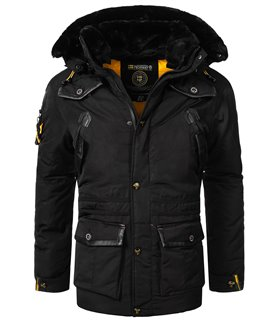 Geographical Norway Herren Winter Jacke mit Kunstfellkragen H-259
