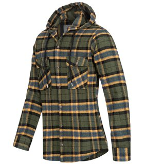 Rock Creek Herren Flanellhemd mit Kapuze H-257