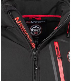Geographical Norway Herren Softshell Jacke mit Kapuze H-266