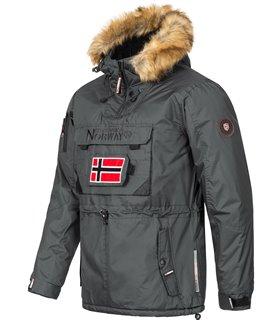 Geographical Norway Herren Windbreaker Anorak mit Kapuze H-268