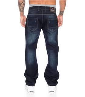 Rock Creek Herren Jeans Comfort Fit Dunkelblau RC-2091