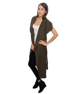 Damen Mantel Wasserfall Kragen Blogger One Size D-58