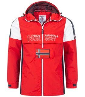 Geographical Norway Herren Windbreaker mit Kapuze H-281