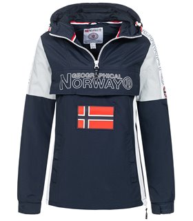 Geographical Norway Damen Windbreaker mit Kapuze D-461