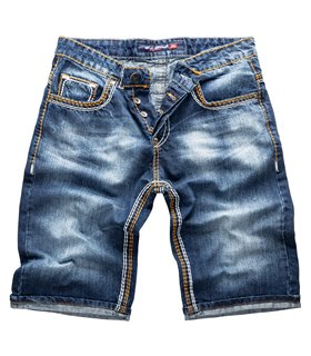 Rock Creek Herren Jeans Shorts Dunkelblau RC-2077