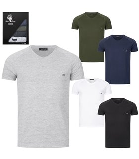 Rock Creek Herren T-Shirt 5er-Set V-Ausschnitt H-275