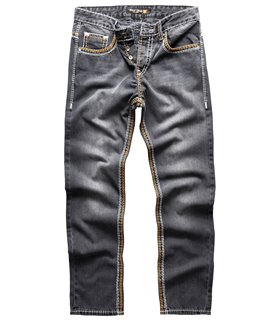 Rock Creek Herren Jeans Comfort Fit Dunkelgrau RC-2168