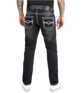 Rock Creek Herren Jeans Comfort Fit Dunkelgrau RC-2169