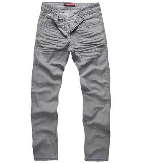 Herren Jeans Hose Grau Stretch-Jeans Denim Raw W29-W44 RC-2097