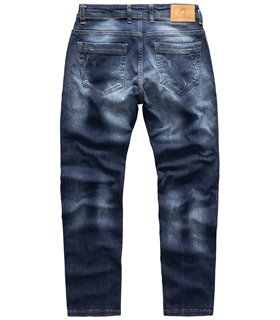 Rock Creek Herren Jeans Stretch Regular Slim Dunkelblau RC-2110