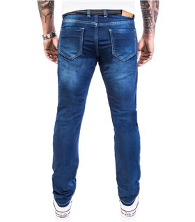 Rock Creek Herren Jeans Stretch Slim Fit Dunkelblau RC-2115