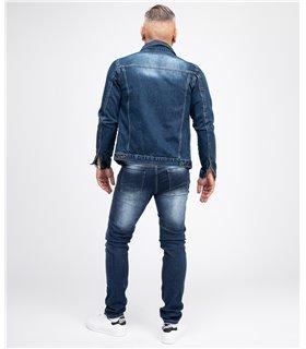 Rock Creek Herren Jeans Hose Stonewashed Slim Fit Blau RC-2151