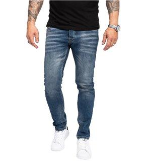 Rock Creek Herren Jeans Slim Fit Blau RC-2166