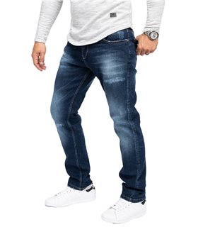 Rock Creek Herren Jeans Regular Fit Dunkelblau RC-3103