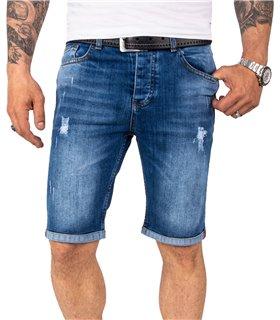 Rock Creek Herren Jeansshorts Slim Fit Blau RC-2218