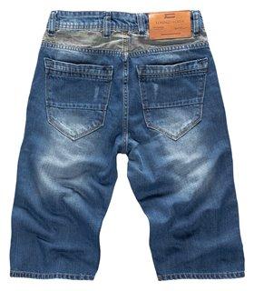 Lorenzo Loren Herren Jeansshorts Slim Fit Blau LL-392