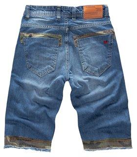 Lorenzo Loren Herren Jeansshorts Slim Fit Blau LL-393