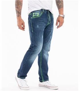 Rock Creek Herren Jeans Comfort Fit Blau RC-2271