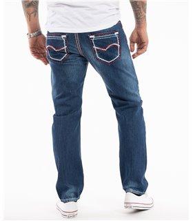 Rock Creek Herren Jeans Comfort Fit Dunkelblau RC-2272