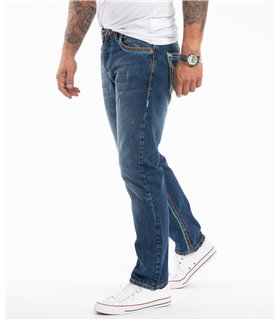 Rock Creek Herren Jeans Comfort Fit Dunkelblau RC-2270